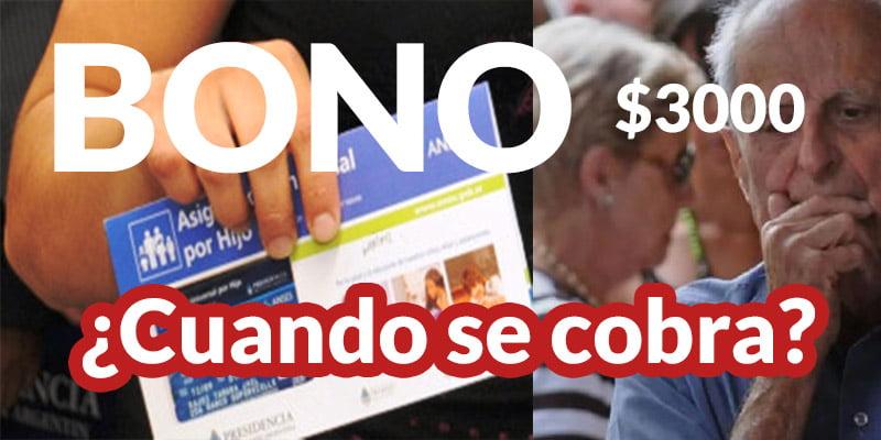 Bono de 3000 pesos