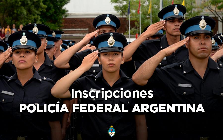 Preinscripción para ingresar a la Policía Federal Argentina
