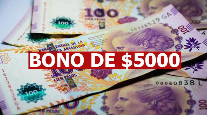 Bono de fin de año de $5.000