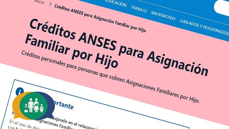 Créditos Anses para Asignaciones Familiares