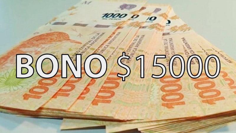 Bono de 15000 pesos