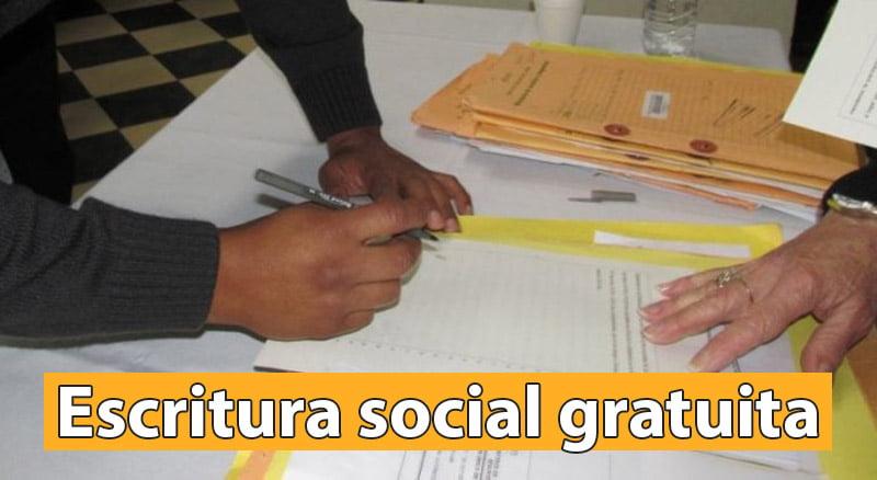Escritura social gratuita
