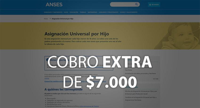 $7.000 para la Asignación Universal por Hijo